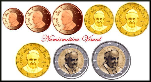 El Papa, en los euros del Vaticano :: Vaticano :: Religión