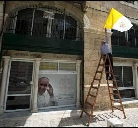 Preparativos de la visita del Papa a Jerusalén