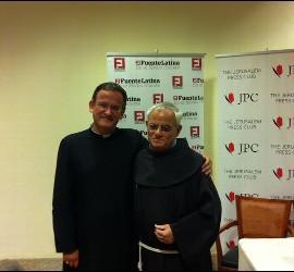 Vítores y el vicario del patriarcado latino Neuhaus