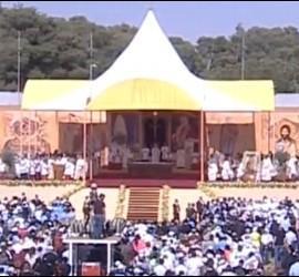 El altar de la misa de Jordania