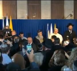 Francisco, con los rabinos jefe de Jerusalén