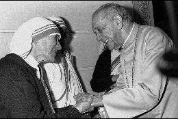 Hélder Cámara, con madre Teresa
