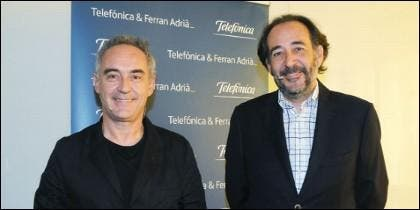 Ferran Adrià y Carlos López Blanco Director de Asuntos Públicos de Telefónica S.A.