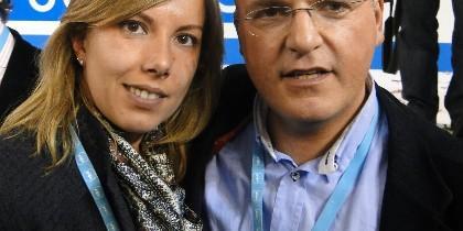 María José Caldelas con Manuel Baltar.