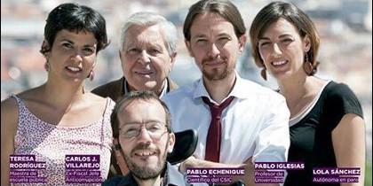 Los eurodiputados de Podemos.