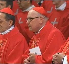 Cardenales, en la celebración de la misa de Pentecostés