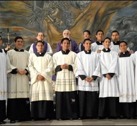 Seminaristas del Seminario Mayor de Irapuato