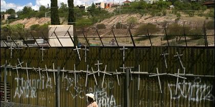 El muro-frontera de Arizona