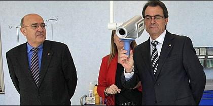 El consejero de Salud, Boi Ruiz, y el presidente de la Generalidad, Artur Mas.