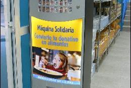 Máquina expendedora de donaciones