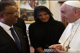 El Papa, con el presidente de Madagascar