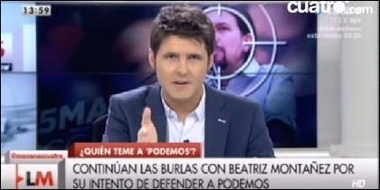 El presentador de 'Las Mañanas'.