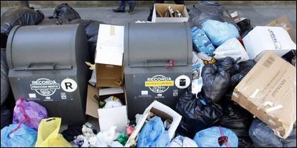 Huelga de recogida de basura en Lugo