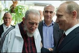 Fidel Castro con Vladimir Putin.