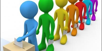 Urnas, elecciones, campaña electoral y política.