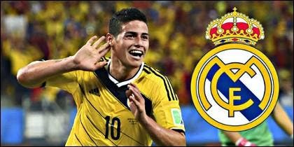 James Rodríguez y el Real Madrid.