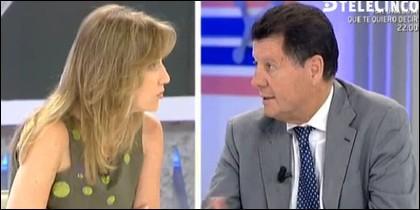 Tania Sánchez y Alfonso Rojo.