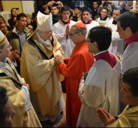 Santos Abril, recuperado saluda a monseñor Livieres