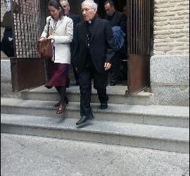 El cardenal Rouco y Pilar Gordillo, directora de Evocarte