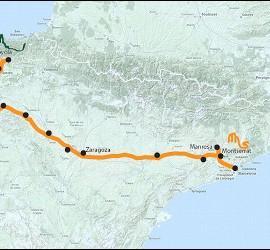 Camino ignaciano mapa