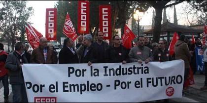 Manifestación por el futuro de Elcogás