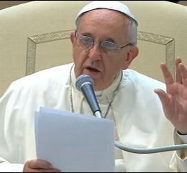 Francisco, en el Aula Pablo VI