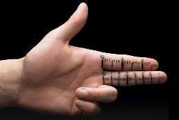 La mano, los dedos y el tamaño del pene.