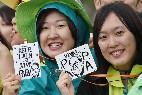 Papa, con los jóvenes de Corea
