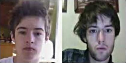 Hugo Cornellier con 12 y 19 años.