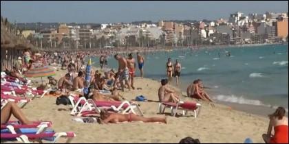 Playa, vacaciones.