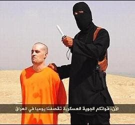 El periodista James Foley a punto de ser decapitado.