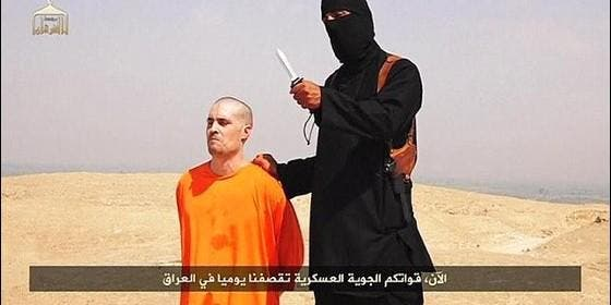 El periodista James Foley a punto de ser decapitado.