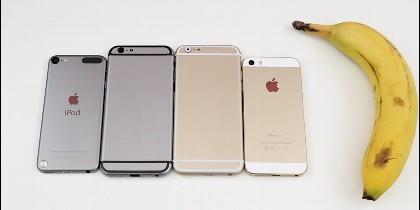 Los tamaños del iPhone6.