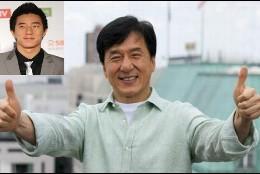 Jackie Chan con su hijo Jayce.