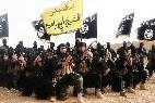 Yihadistas islámicos del EI, en Siria e Irak.