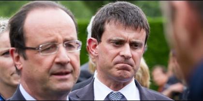Hollande y Valls.