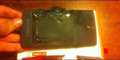 El 'smartphone' que explotó.