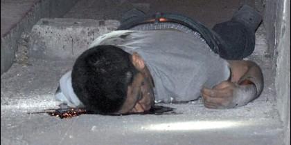 Víctima, en la frontera México-EEUU.