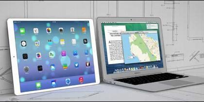 Un iPad XXL y un ordenador normal.