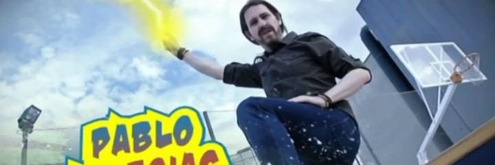 El humorista Joaquín Reyes, en una parodia al líder de Podemos.