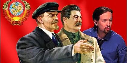 Lenin, Stalin y Pablo Iglesias.