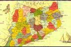 Mapa de la Generalitat 'apropiándose' de seis comarcas aragonesas.
