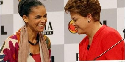 Marina Silca con Dilma Rousseff.