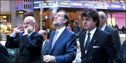 Rajoy, fumando en Nueva York.