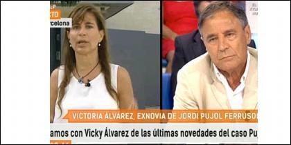 Victoria Álvarez y Antonio Casado.