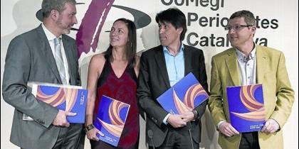 Josep Ramon Bosch, Susana Beltrán, Josep Rosiñol y Joaquim Coll.