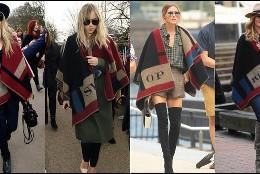 Las celebrities se rinden ante el poncho manta de Burberry.