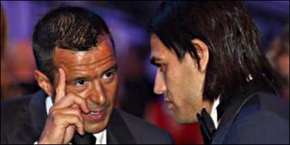 Mendes con Falcao.