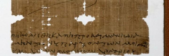 El papiro sobre la Eucaristía hallado por los investigadores de la Universidad de Manchester