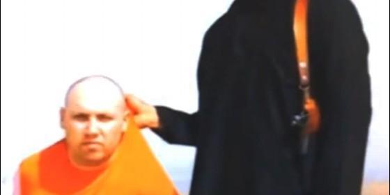 Steven Sotloff en manos de los terroristas islámicos.